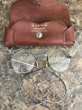 Vintage Round Eyeglases Spectacles Dr Tuttle Winchester Ky Antique