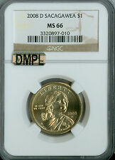 2008-D SACAGAWEA DOLLAR NGC MAC MS 66 PL PQ BUSINESS STRIKE.