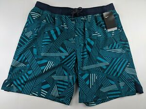 NEW NIKE Dazzle Vital Swim Trunk Men 2XL Shorts Green Spirit Teal NESS9484