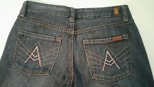 "Women's 7 Seven For All Mankind ""A"" Pocket Blue Jeans Sz 28 Boot Cut PINK ""A"""