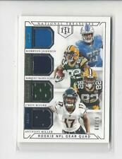 2018 National Treasures Valdes-Scantling/Miller/Moore/Kerryon Johnson JERSEY /99