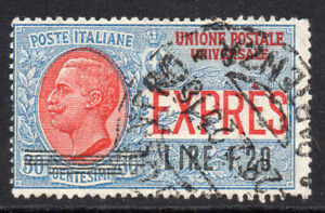 Italy 1.20 Lire on 30 Cent Delivery Stamp c1921 Used (25b)