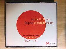 BOITIER 3 CD LIVRE AUDIO / AMELIE NOTHOMB / STUPEUR ET TREMBLEMENTS / NEUF CELLO