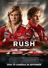 "Reproduction ""Rush"" Movie Poster, Motor Racing, Wall Art, Size A2 (420 x 594mm)"