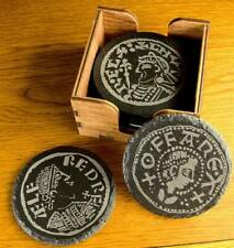 More details for anglo saxon period coins slate 6 coaster set