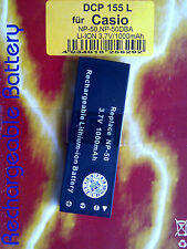 Up DCP 155 l Li-ion 3,7v 1000mah batería para Casio np-50 np-50dba