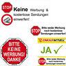 Stop Keine Werbung Aufkleber Indoor Briefkasten im Hausflur Sticker Warn Hinweis