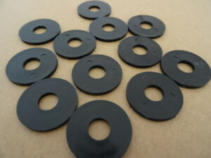 12 Stück Kunststoffscheiben schwarz