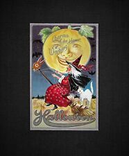 Vintage M.L. JACKSON HALLOWEEN Embossed Postcard CHARMS OF THE WITCHING HOUR