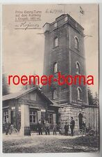 74551 Ak Prinz Georg Turm auf dem Kuhberg im Erzgebirge 1922