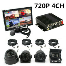 720P 4CH Car DVR Video Recorder AHD SD 4G GPS Realtime&Monitor With 4Pcs Camera