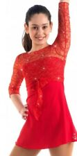 Nwt Sagester Red Figure Skating Dress #135, Hand-made in Italy Size L
