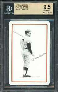 1978 landsman playing cards MICKEY MANTLE new york yankees BGS BVG 9.5