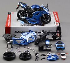 1:12 Kawasaki Ninja ZX 6R Assembly kit Motorcycle Model Blue New