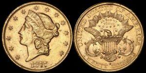 UNITED STATES 1877S $20 Liberty head. Gold.