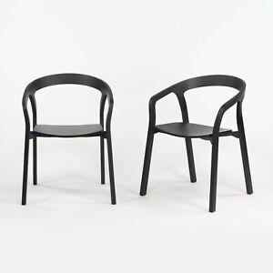 Pair Nitzan Cohen for Mattiazzi He Said/She Said MC1 Chairs Solid Black Ash Wood