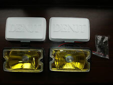 Peugeot 205 GTI driving lights lamps NEW YELLOW LENSE DIMMA XS * FREE COVERS '