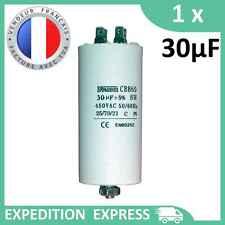 Condensateur moteur 30µF 30uF 450V à cosses + vis CBB60 démarrage/permanent