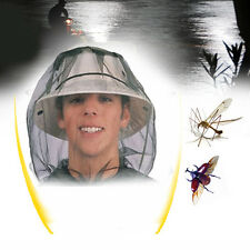 1PC Anti Mosquito Insect Bee Fly Mask Cap Face Protect Hat Nets Outdoor Camping