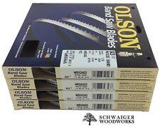"Olson Wood Band Band Saw Blades 93-1/2"" inch x (4) Widths Set, 14"" Delta, JET"