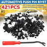 421x Car Body Plastic Push Pin Rivet Fasteners Screw Trim Moulding Bumper Clips