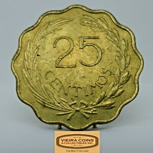 1953 Paraguay 25 Centimos 25 C, Free Shipping  -  #C20724NQ
