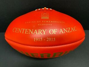 AFL CENTENARY OF ANZAC SHERRIN LEATHER GAME FOOTBALL GOLD FOIL Collingwood RSL
