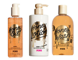 Victoria's Secret PINK Honey Nourishing Body Wash / Body Oil / Body Lotion