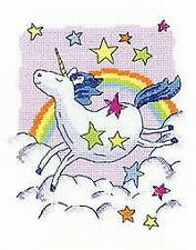Heritage Crafts Counted Cross Stitch Kit -Karen Carter Collection - Unicorn - 14