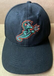 NORFOLK TIDES MINOR LEAGUE BLACK BASEBALL CAP HAT, SMITHFIELD , NORFOLK, VA