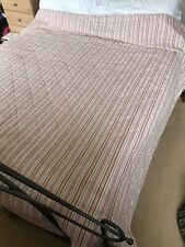 Striped Quilted Bedspead. Double Size.