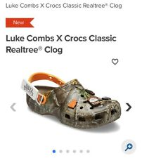🔥NEW Luke Combs X Crocs Realtree Size 12 Brand New 🔥