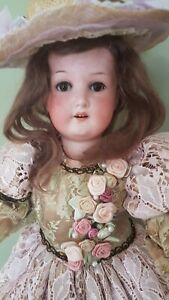 Antique German Bisque head doll by Ernest Heubach 20 inch.