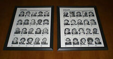 2 1972 STEELERS PLAYERS PHOTO ROSTER FRAMED PRINTS