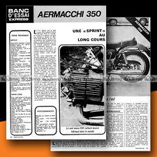 ★ AERMACCHI HARLEY-DAVIDSON 350 SPRINT ★ 1972 Essai Moto Original Road Test #b5