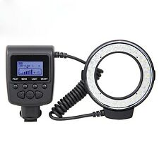 RF-550D LED Macro Ring Flash Light for Canon Nikon Panasonic Olympus Sony HDMI