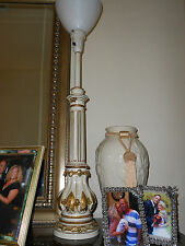 TALL HOLLYWOOD REGENCY STIFFEL ORIG. LAMPS PAIR GOLD FLORENTINE FRENCH