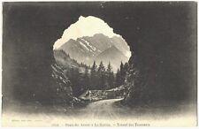 CPA 74 Haute-Savoie Route des Aravis à la Giettaz Tunnel