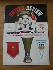 15/09/1982 Manchester United v Valencia [UEFA Cup] (token removed, number noted