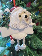 Havanese ~ Dangling Dog Ornament ~ #120