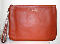 NWT Rebecca Minkoff Bittersweet Lissa LG Leather Pouch Clutch The Essentials Bag