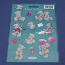 Me To You Tatty Teddy Bear Collectors-Pack of 2 Sheets of stickers (Blue)