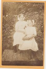 Real Photo Postcard RPPC - Two Girls with Photography Album