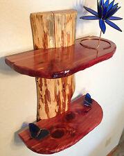 Rustic Cedar Wood Log Shelf / Cabin / Lodge Decor / Log Furniture / wall shelves