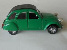 Citroen 2CV Green S219 Polistil 1/25 Scale Diecast Headlamps Badly Fitted