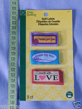Quilt Labels - Assorted -  Sew-on Labels, 3 x 3 styles per pack