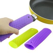 Silicone Pot Pan Handle Holder Sleeve Cover Grip Hot Sleeve Kitchen Utensil EW
