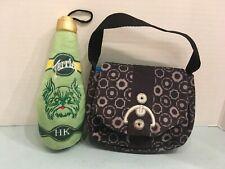 1 Bark Box Plush Crinkle/Squeaky Dog Toy Purse Handbag + Terrier Water Bottle