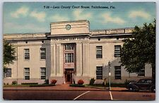 Leon County Court House in Tallahassee, Florida Linen Postcard Unused