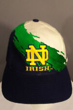 TRUE VINTAGE Notre Dame Snapback Cap 90's NCAA Logo Athletic Splash Irish Hat